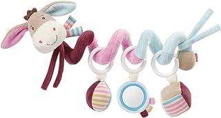 Fehn 081336 Activity-Spirale Esel – Stoff-Spirale zum Greifen und Fühlen – Für Babys und Kleinkinder ab 0 Monaten – Maße: 30 cm
