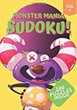 Monster Mania Sudoku!: 7x10 in Large Print Beginner Logic & Deduction Puzzles 100 Puzzles Special Font for Dyslexic Puzzlers (Monster Sudoku)
