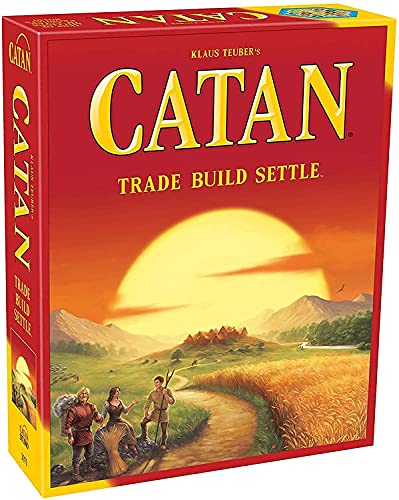 ASHICHIPRO Catan Trade Build Settle Board Game, Card Game Family Game, 5-6 Players, 60 Minute Playing time.