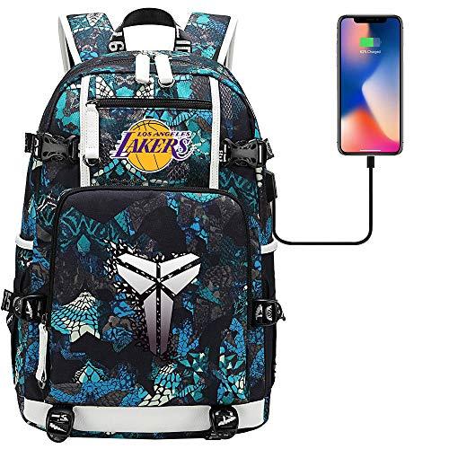 GXB Herren Sport Rucksack Leichtwasserwasserdicht Rucksack Basketball Tasche NBA Los Angeles Lakers Kobe Stil F