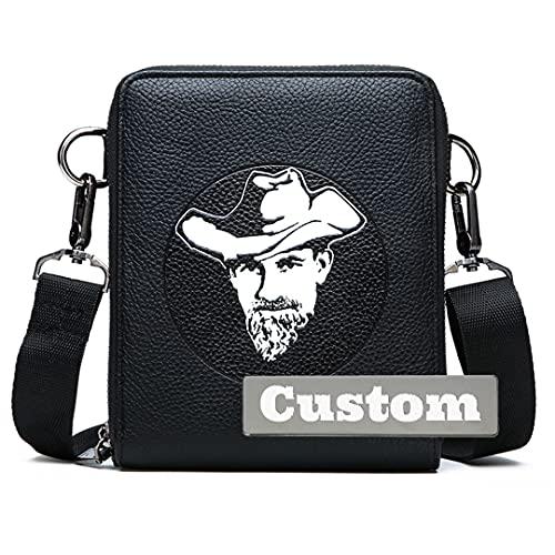 FireH Nome Personalized Messenger Bag per Borse a tracolla scolastica Gli uomini Travel Travel Crossbody for Men (Color : Black, Size : One size)