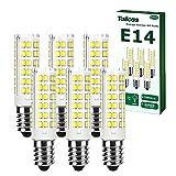 Bombilla LED E14 Luz Blanca Fría 6000K, 7W Lámpara de Maíz E14 LED, Equivalente Bombillas Halógeno 65W, Pequeño Tornillo de Edison Bombillas LED, No Regulable Lámpara para Domésticos, Paquete de 6