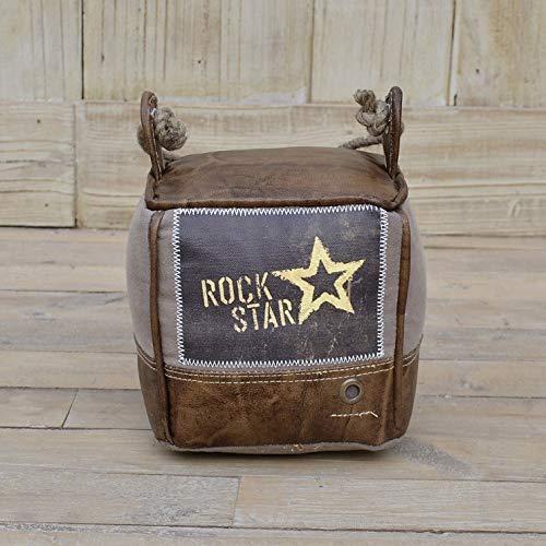 Main Möbel Türstopper Rockstar Leder braun