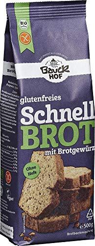 Bauckhof Bio Bauck Bio Schnellbrot mit Brotgewürz, glutenfrei (6 x 500 gr)