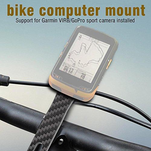 Vikye Support d'ordinateur de vélo Accessoire de vélo Multifonctionnel, Support de chronomètre de vélo Noir, Tige de Guidon de vélo intégrée, pour Bryton pour Garmin(for Bairuiteng)