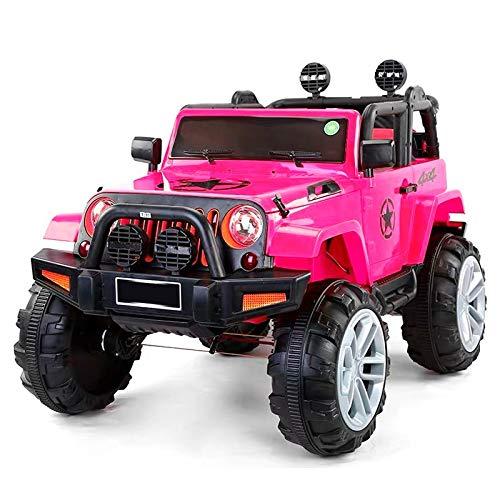 ATAA Bigfoot 4X4 - Rosa - Coche eléctrico para niños a batería Bigfoot con 4 potentes Motores de 12v y 35 wattios Cada uno.
