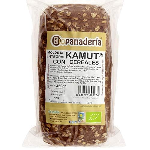 Biopanadería Pan de Molde de Trigo Khorasan Kamut Integral con Cereales Ecológico Elaborado Artesanalmente con Masa Madre Natural
