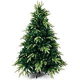 OZAVO Gotoll Árbol de Navidad Artificial de Pino 150cm,950 Ramas con Soporte Metálico Árbol Navideña de PVC Abeto Decoración Navideña Decoración Navideña en Interiores y Exteriores(Verde)