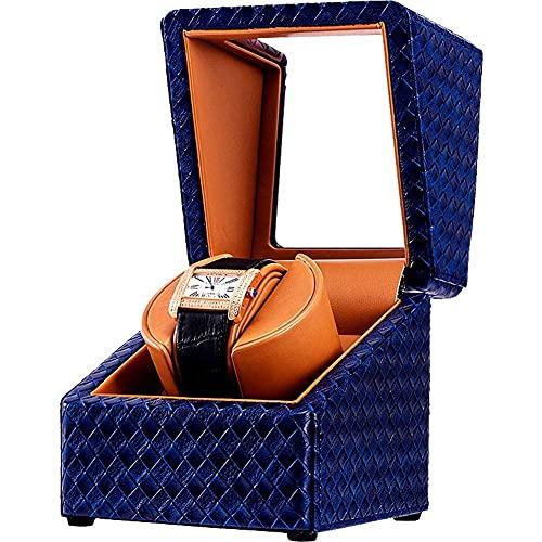 CCAN Caja de Reloj Caja enrolladora automática de Reloj con Motor silencioso y 4 Modos de rotación, Caja de exhibición de Reloj de Cuero Artificial (Color: E), Reloj