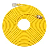 DEWENWILS 25 FT 12/3 Gauge Indoor/Outdoor Extension Cord with LED Lighted End, SJTW 15 Amp/125V/1875W Yellow Outer Jacket Contractor Grade Heavy Duty Power Cable with Grounded Plug, ETL Listed