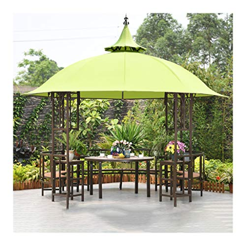 YYDD 12x12 FT Outdoor Gazebos for Patios with Desk, Patio Pavilion, Outdoor Party Pergola, for Garden, Patio, Lawns, Parties