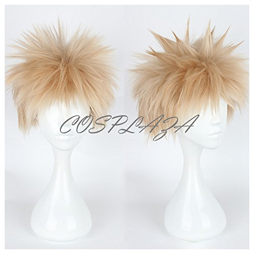 COSPLAZA Cosplay Wig Short Lt. Blonde Mixed Pink Hair Boy Anime Hair Synthetic Wigs