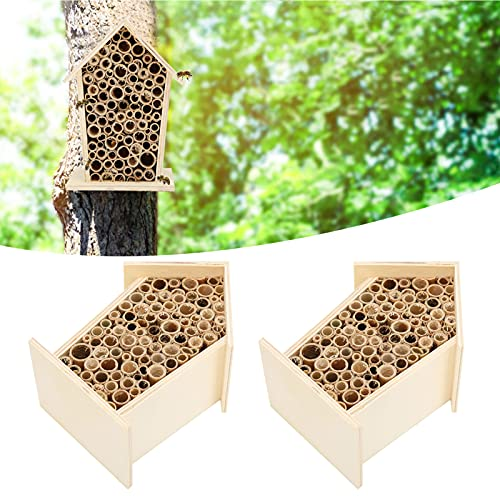 Gedourain Bee House, Proporciona un hábitat para Las Abejas, un Hotel de Abejas Duradero, sin Productos químicos, Seguro para la anidación de cavidades