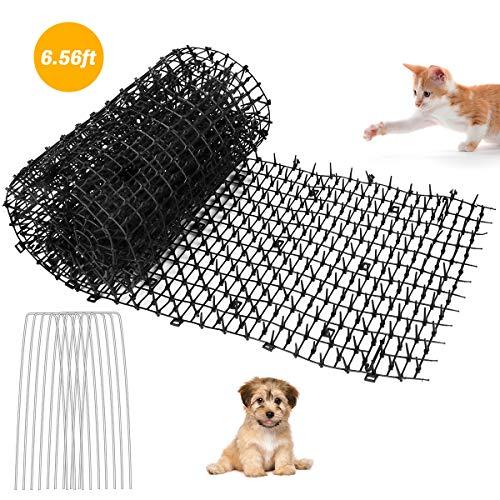 Powcan Garden Cat Scat Mats Anti-Katzen-Stachelstreifen halten die Katze fern, 2M x 0,3M