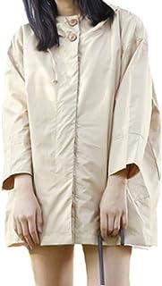 (シスター?エミ)Sister Amy 軽量 レインコート レディース 無地 加工 軽量 撥水 防水 防風 フード付き 収納ポケット付き 通学 フリーサイズ