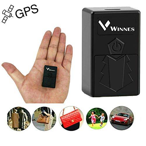 Winnes Mini GPS Tracker, Mini Echtzeit Tracker Portable Ortung Anti Diebstahl GPS Locator für Geldbörse Brieftasche Taschen Kinder Schulranzen Wichtige Dokumente Verlorener Sucher mit App TK921