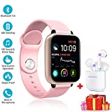 Smartwatch Per Uomo Donna Bambini Bluetooth Compatibile IP68 impermeabile...