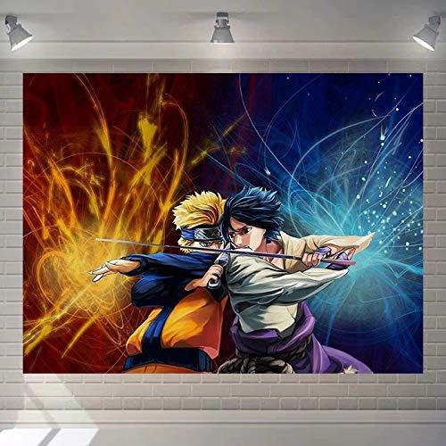 Naruto Wandteppiche Psychedelic Wandbehang Ninja Karikatur Anime Mandala Wanddekoration Wandtuch Tapestry Strandtuch,Tuch,Picnic Throw,Wohnheim Dekor Plus Samt