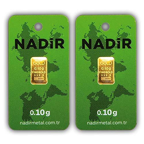 Nadir LBMA - Juego de 2 lingotes de oro (0,10 g, 0,1 g, 0,10 g)