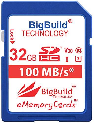 BigBuild Technology 32 Go UHS-I U3 100 Mo/s Carte mémoire pour Sony ILCE6600B Caméra, Classe 10 SDHC