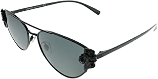 Versace VE 2195B 100987 Black Metal Cat-Eye Sunglasses Grey Lens