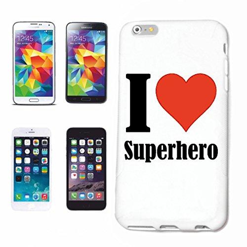 Reifen-Markt Hard Cover - Funda para teléfono móvil Compatible con Apple iPhone 7 I Love Superhero