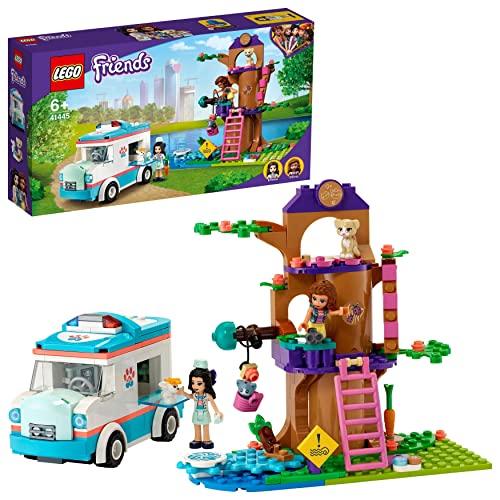 LEGO 41445 Friends Tierrettungswagen Spielzeugauto mit Olivia und Emma Mini Puppen