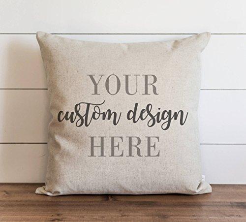 Promini Your Custom Design - Funda de almohada con cierre de cremallera oculta para sofá, banco, cama, decoración del hogar, 60 x 60 cm