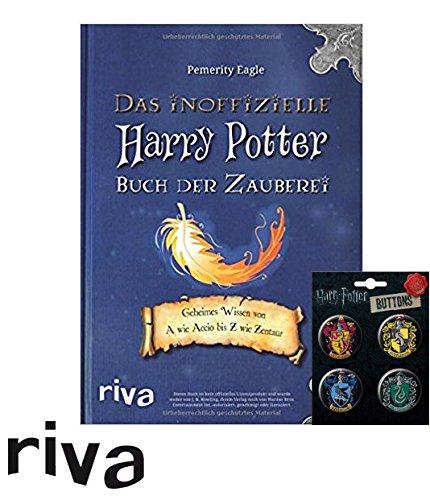 Harry Potter Das inoffizielle Buch der Zauberei: Geheimes Wissen von A wie Accio bis Z wie Zentaur Taschenbuch + 1. original Button