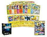 Pokemon Electric Collection - 50 Pokemon Cards Plus 5 Rare Electric Pokemon and 1 Electric Ultra-Rare Card Free Lightning Card Collection Deck Box Include