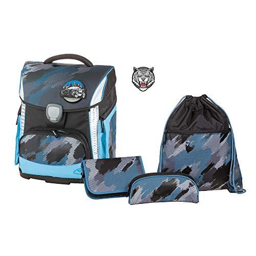 Schulranzenset Plus mit Federmappe, Schlamper und Sportbeutel, Brush, leicht, ergonomisch, 4 teilig