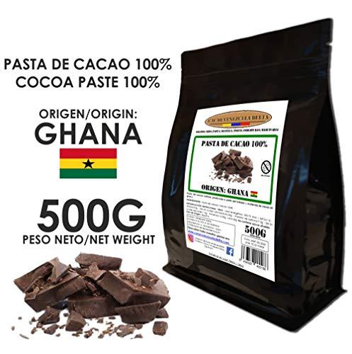 Cacao Venezuela Delta - Cioccolato Fondente Puro al 100% · Origine GHANA (Pasta, Massa, Liquore di Cacao al 100%) · 500g