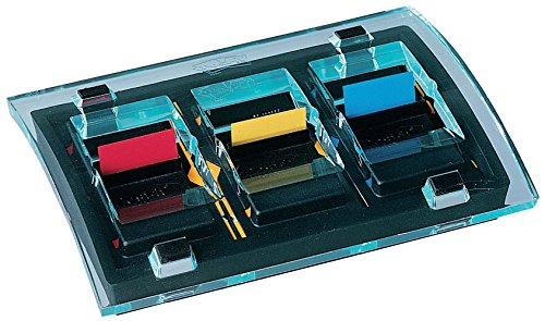 Post-it C2011P Index Promotion Haftstreifen (inkl. 1 Post-it Index Spender schwarz/transparent) 6x50 rot/gelb/blau