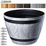 KADAX Blumentopf, Blumenkübel aus Kunststoff, runder Pflanzkübel, Innen- und Außenbereich,...