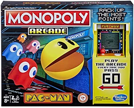 Monopoly Arcade Pac Man Game Board Game for Kids Ages 8 and Up Includes Banking and Arcade Unit product image