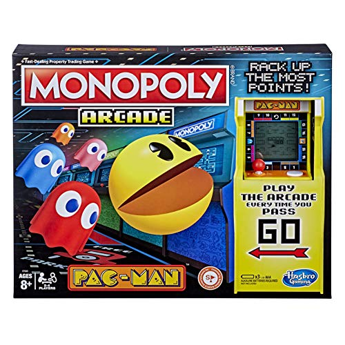 Monopoly Arcade Pac-Man Game Board Game for Kids Ages 8 and Up; Includes Banking and Arcade Unit
