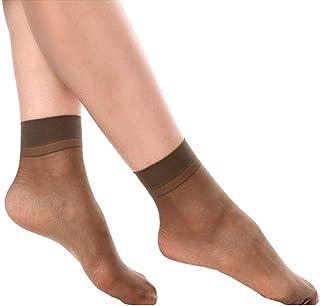 OUYOU レディース レースソックス 超薄型 爽やかな靴下 夏用 高通気性 高透明度 滑り止め 速乾 快適 10足セット