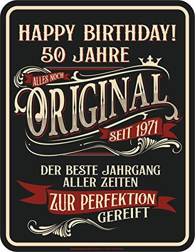RAHMENLOS Deko Blechschild als Geschenk zum 50. Geburtstag: Zur Perfektion gereift 1971