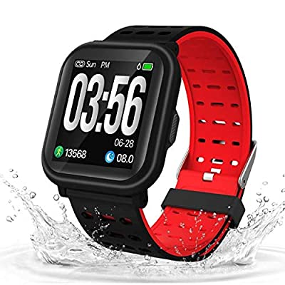 AKASO Smart Watch Fitness Tracker HR, Activity Tracker with Heart Rate Monitor, Waterproof Pedometer Watch ,Step Counter, Calorie Counter, Sleep Tracker for Men Women Kids