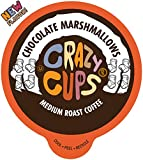 Crazy Cups Flavored Coffee for Keurig K-Cup Machines, Chocolate Marshmallows, Hot or Iced Drinks, 22 Single Serve, Recyclable Pods