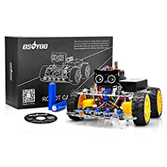 SIMPLE, EDUCATIONAL, FUN PROJECT — Control your OSOYOO Robot Car V2.0 System by Android and iOS App, allowing many additional functions such as imitation driving, WiFi controlled auto driving and battle bots (must purchase at least two kits). This in...