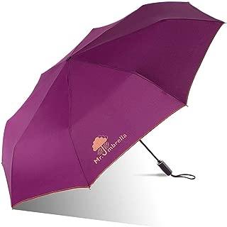 Automatic Umbrella Folding Umbrella Rain and rain Dual-use Umbrella Double Large Umbrella Parasol Four Colors Optional HYBKY (Color : Red)