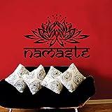 Wandtattoo Ornament Indisch Yoga Namaste Lotus Blume Vinyl Schlafzimmer Wandtattoo Wandsticker Wandbilder