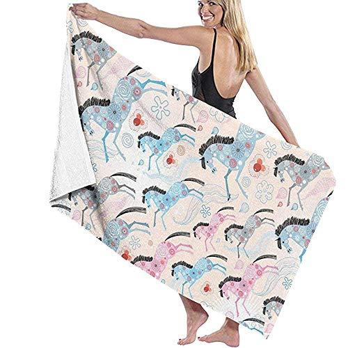 Badlaken Paarden Waterkleur Softness Absorbency Outdoor Sport Bad Handdoek Beach Handdoek Dagelijks Gebruik 80X130Cm Zwemmen Reizen