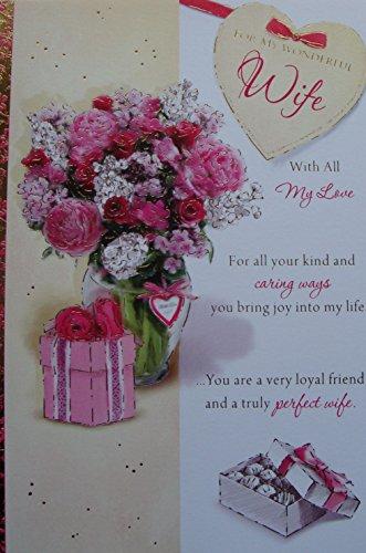 Prachtige vrouw Verjaardagskaart presenteert bloemen
