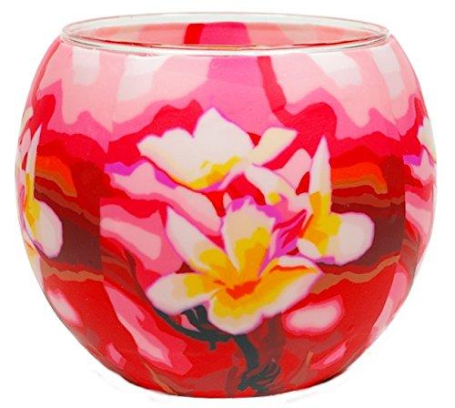 Himmlische Düfte Geschenkartikel GmbH Magnolia Windlicht, Glas, bunt, 11 x 11 x 9 cm