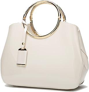 Coolives Damen Handtasche Tasche Henkeltasche aus PU-Lackleder Hochzeitstasche Schultertasche Umhängetasche für die Hochze...