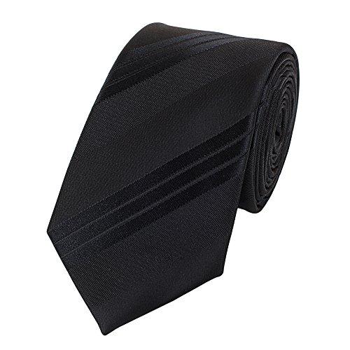 Fabio Farini - Cravates, nœuds papillons et mouchoirs attrayants et élégants pour la robe à cravate noire code noir cravate avec des rayures noires