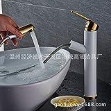 ROTOOY DIY Bad Waschbecken Wasserhähne Wasserhahn Wasserhahn Kippen Wasserhahn_Platinum Platin...