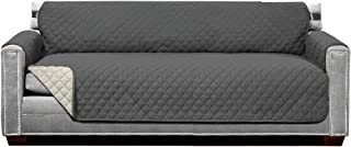 Best Sofa Shield Original Patent Pending Reversible X-Large Oversized Sofa Protector for Seat Width to 78 Inch, Furniture Slipcover, 2 Inch Strap, Couch Slip Cover Throw for Pet Dogs, Sofa, Charcoal Linen Review